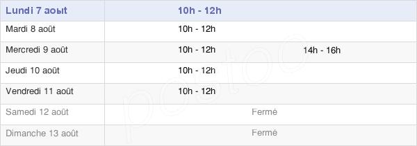 horaires d'ouverture de la Mairie De Mamirolle