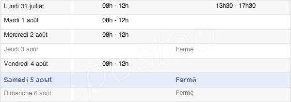 horaires d'ouverture de la Mairie De Liesle