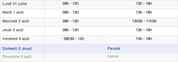 horaires d'ouverture de la Mairie De Montenois