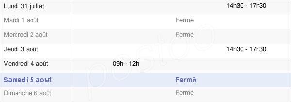 horaires d'ouverture de la Mairie D'Onans