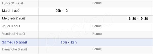 horaires d'ouverture de la Mairie De Etrappe
