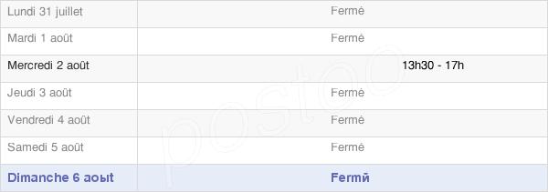 horaires d'ouverture de la Mairie De Pompierre-Sur-Doubs