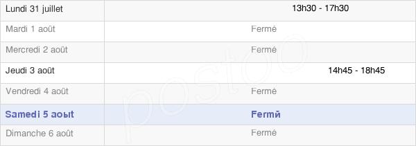 horaires d'ouverture de la Mairie De Franey