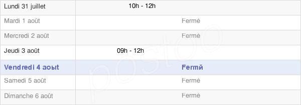 horaires d'ouverture de la Mairie De Brères