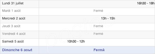 horaires d'ouverture de la Mairie De Bouverans