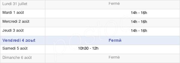 horaires d'ouverture de la Mairie D'Amancey