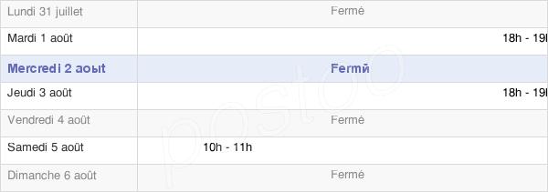 horaires d'ouverture de la Mairie De Chenecey-Buillon