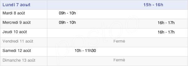 horaires d'ouverture de la Mairie De Soye
