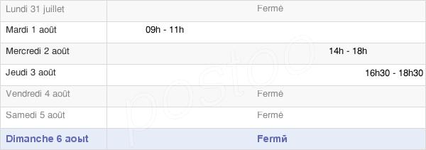 horaires d'ouverture de la Mairie De Cléron