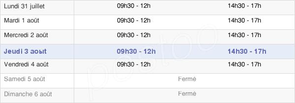 horaires d'ouverture de la Mairie De Clerval