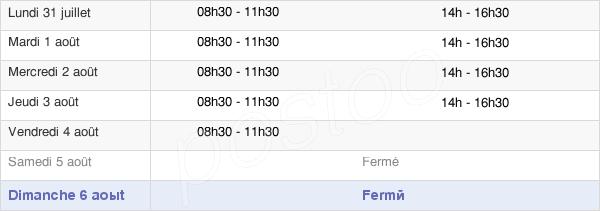 horaires d'ouverture de la Mairie De Tarcenay