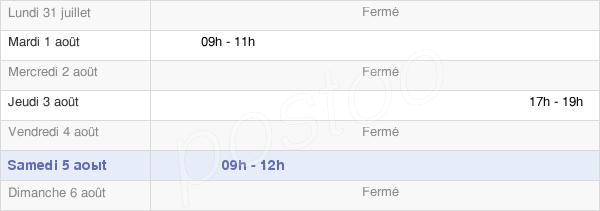 horaires d'ouverture de la Mairie De Busy