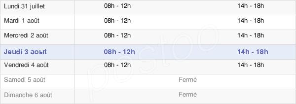 horaires d'ouverture de la Mairie De Morteau