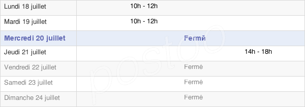horaires d'ouverture de la Mairie De Chapelle-D'Huin
