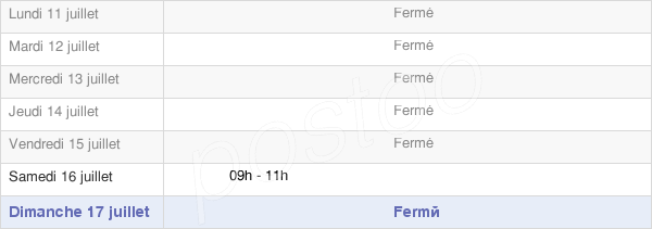 horaires d'ouverture de la Mairie De Reugney