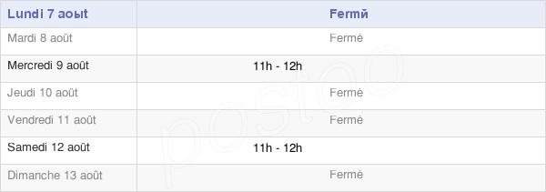 horaires d'ouverture de la Mairie Des Villedieu
