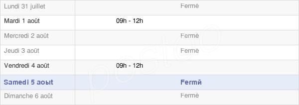 horaires d'ouverture de la Mairie De Belfays