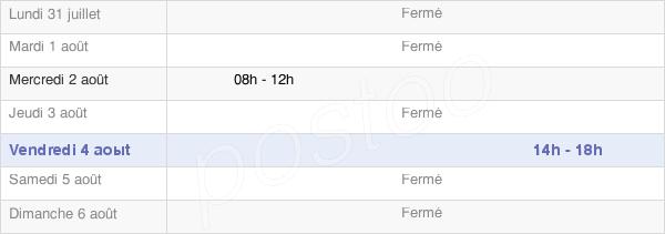 horaires d'ouverture de la Mairie De Recologne