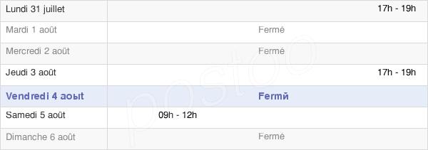 horaires d'ouverture de la Mairie De Velesmes-Essarts