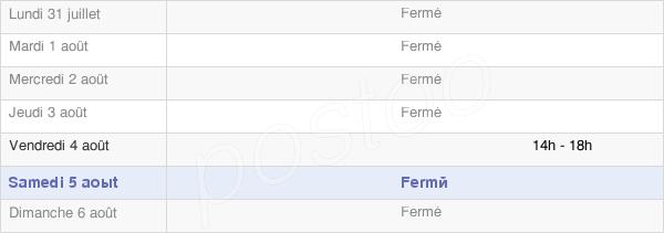 horaires d'ouverture de la Mairie De Faimbe