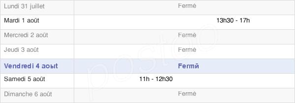 horaires d'ouverture de la Mairie De Corcelles-Ferrières
