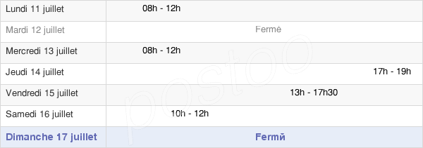 horaires d'ouverture de la Mairie De Noirefontaine
