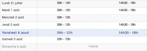 horaires d'ouverture de la Mairie De Maîche