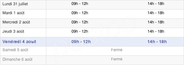 horaires d'ouverture de la Mairie De Longechaux