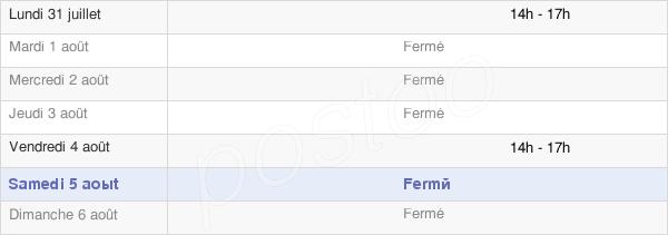 horaires d'ouverture de la Mairie D'Arc-Sous-Montenot