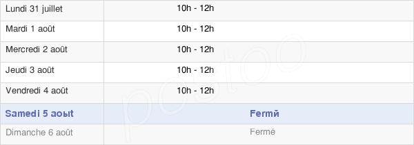 horaires d'ouverture de la Mairie De Trévillers