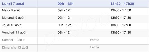 horaires d'ouverture de la Mairie D'Osséja