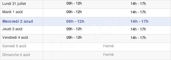 horaires d'ouverture de la Mairie De Font-Romeu-Odeillo-Via