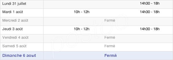 horaires d'ouverture de la Mairie De Sauto