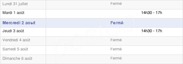 horaires d'ouverture de la Mairie De Prunet-Et-Belpuig