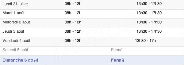 horaires d'ouverture de la Mairie De Saint-Estève