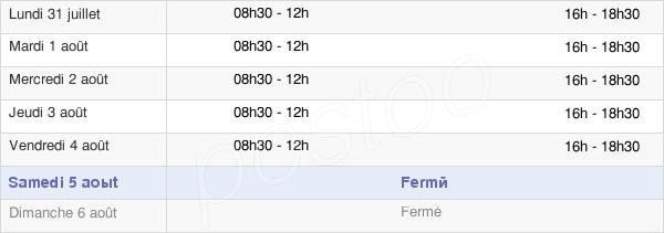 horaires d'ouverture de la Mairie De Ponteilla Nyls