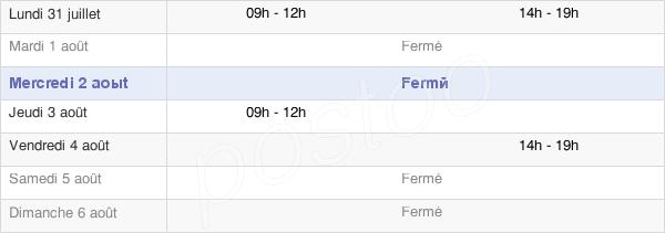 horaires d'ouverture de la Mairie D'Osne-Le-Val