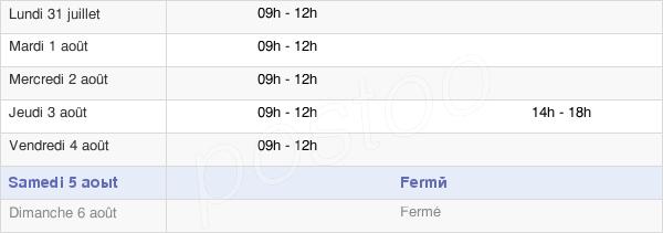 horaires d'ouverture de la Mairie D'Olette
