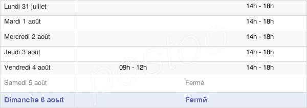 horaires d'ouverture de la Mairie De Palau-De-Cerdagne