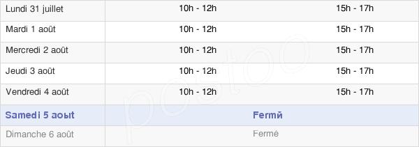 horaires d'ouverture de la Mairie De Saint-Féliu-D'Amont