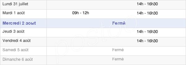 horaires d'ouverture de la Mairie De Serralongue