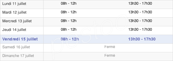 horaires d'ouverture de la Mairie De Formiguères