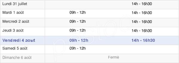 horaires d'ouverture de la Mairie De Rieux-Volvestre
