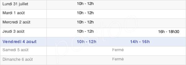 horaires d'ouverture de la Mairie De Saint-Féliu-D'Avall