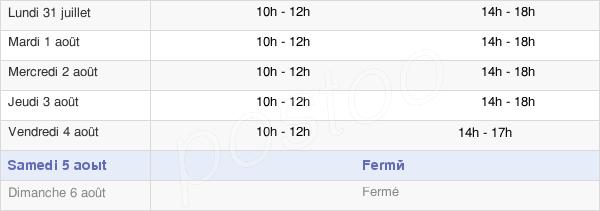 horaires d'ouverture de la Mairie De Saillagouse