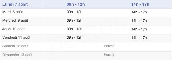 horaires d'ouverture de la Mairie De Montferrer