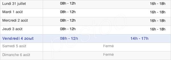 horaires d'ouverture de la Mairie De Trouillas