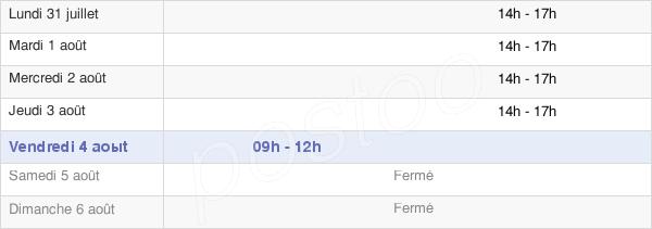 horaires d'ouverture de la Mairie Des Cluses