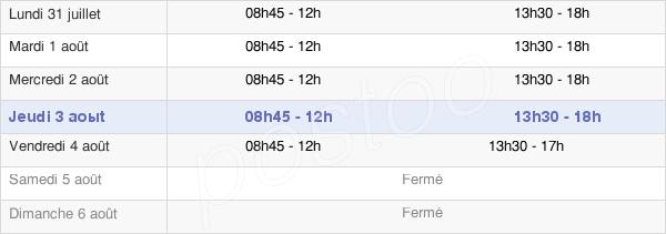 horaires d'ouverture de la Mairie D'Amélie-Les-Bains-Palalda