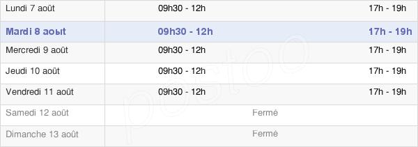 horaires d'ouverture de la Mairie D'Alénya